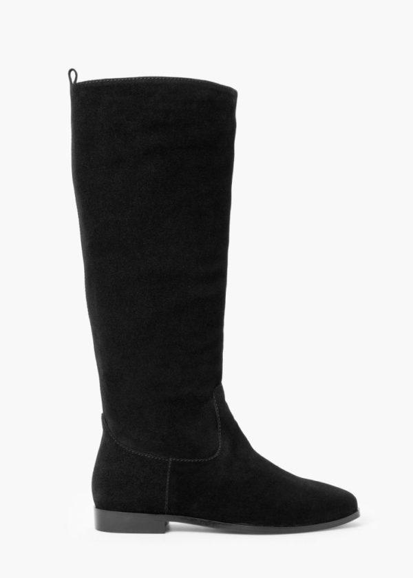 tendencia-de-zapatos-para-otono-invierno-2015-2016-Bota-alta-serraje-de-mango