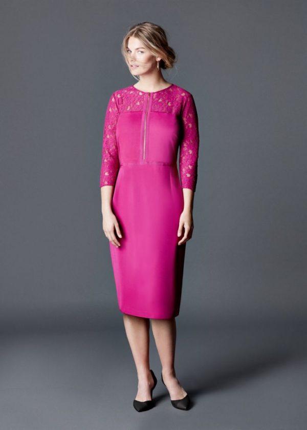 vestidos-de-noche-para-gorditas-MODELO-ENCAJE-de-Violeta-by-Mango