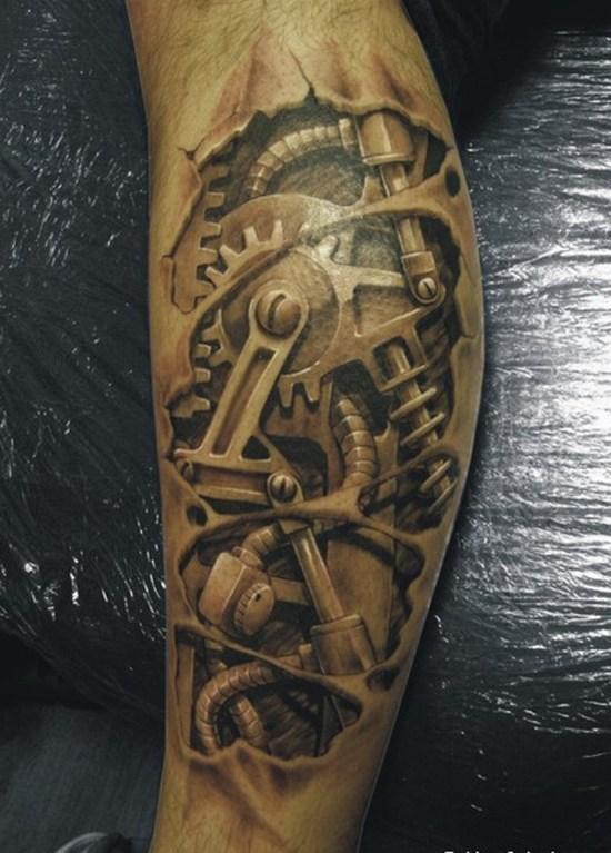 fotos-de-tatuajes-3d-maquinaria-robot-pierna