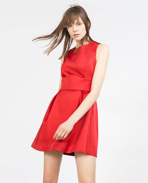 vestidos-navidad-2015-VESTIDOS-CORTOS-modelo-de-color-rojo-de-zara
