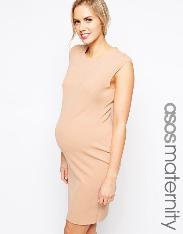 vestidos-de-fiesta-2015-para-mujeres-embarazadas-modelo-ajustado-nude-de-asos