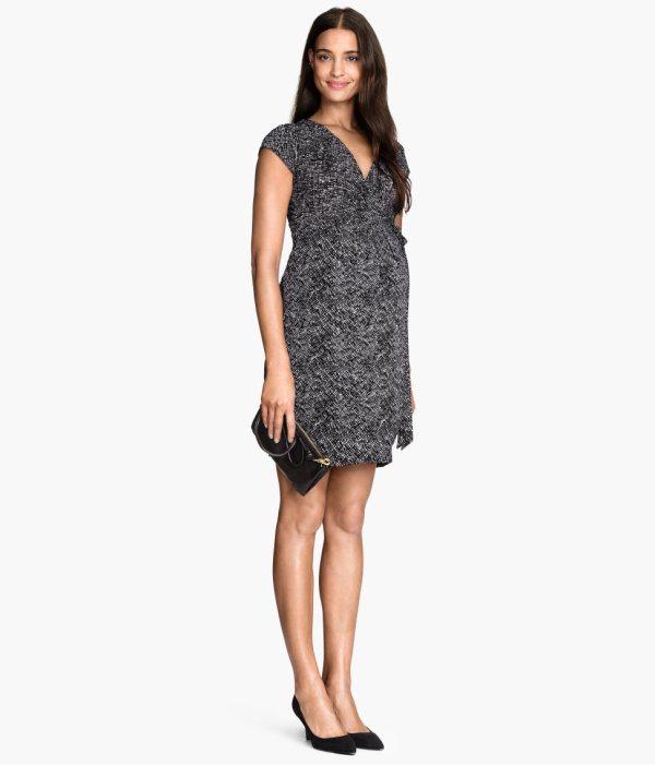 vestidos-de-fiesta-2015-para-mujeres-embarazadas-modelo-estampado-de-h&m