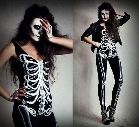 disfraz-casero-mujer-halloween-2015-disfraz-de-esqueleto