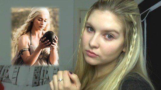disfraz-juego-de-tronos-casero-para-halloween-2014-Daenerys-Targaryen-maquillaje-y-peinado