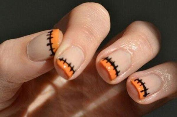 decoracion-uñas-halloween-2015-colores-naranja-negro