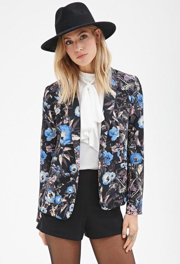 americanas-y-blazers-para-el-otono-invierno-moda-2015-2016-americana-floral-de-forever-21