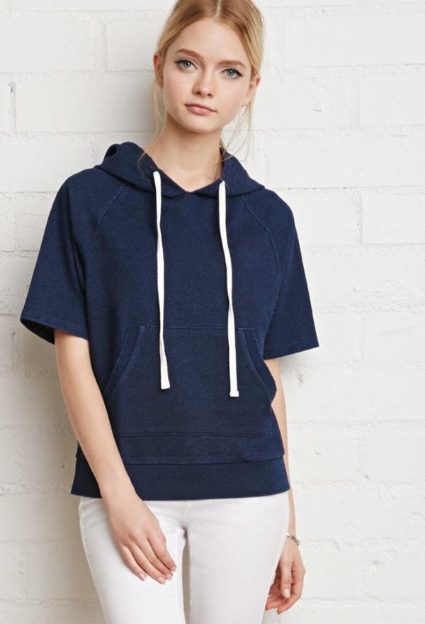 moda-otono-invierno-para-mujer-jerseys-y-sudaderas-2015-2016-SUDADERAS-modelo-manga-corta-de-forever-21