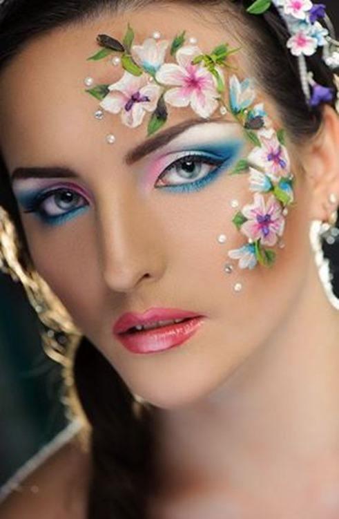 maquillaje-de-fantasia-para-carnaval-2016-ideas-maquillaje-de-flor