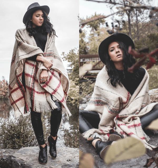 los-ponchos-para-mujer-para-este-otono-invierno-poncho-de-texturas-mas-gruesas