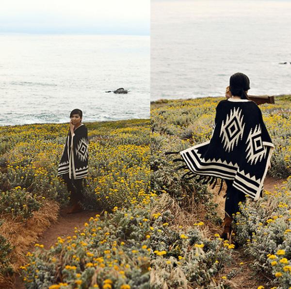 los-ponchos-para-mujer-para-este-otono-invierno-ponchos-de-estampado-tribal