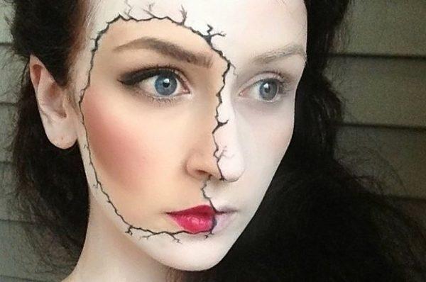 maquillaje-halloween-muerte-cara-rota