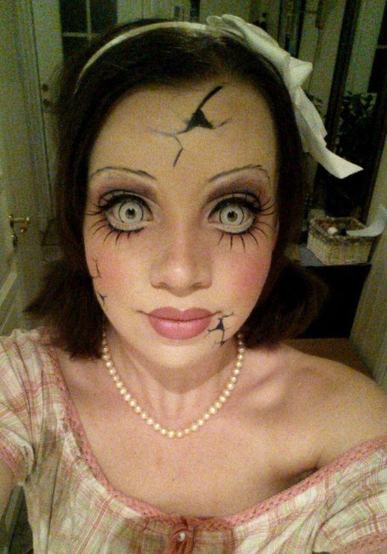 maquillaje-halloween-muneca-rota-con-lazo