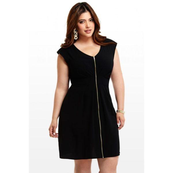 vestidos-de-noche-para-gorditas-negros-con-cremallera
