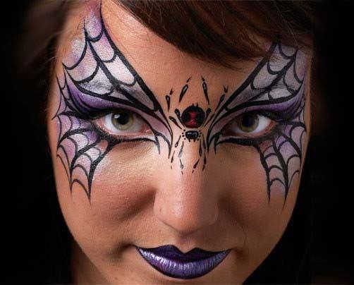 maquillaje-halloween-arana