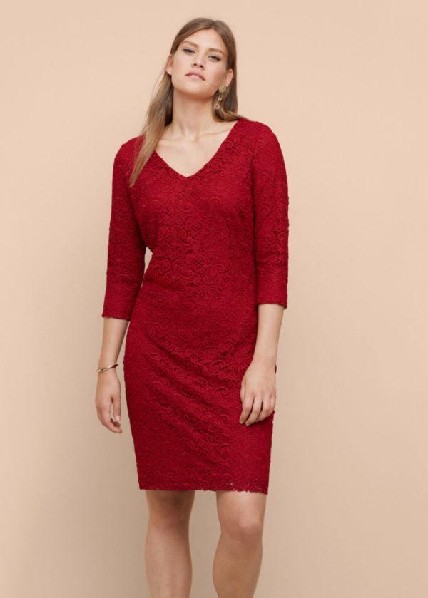 vestidos-de-fiesta-para-gorditas-otono-invierno-2016-2017-vestido-drapeados-rojo