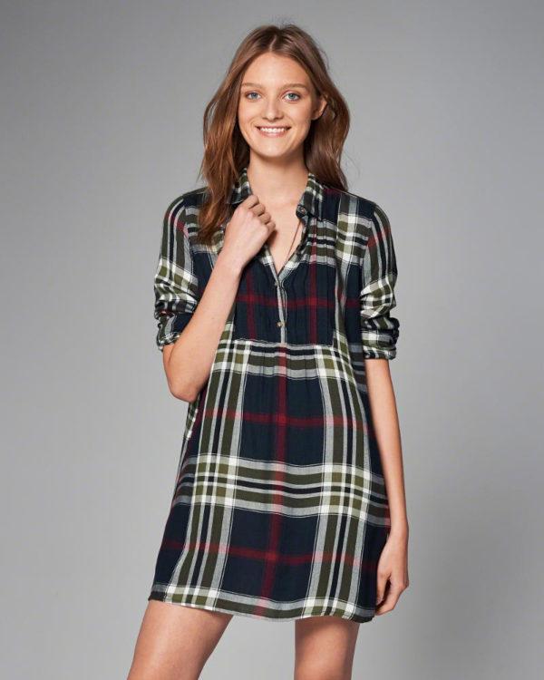 catalogo-abercrombie-fitch-para-chica-y-mujer-otono-invierno-2016-2017-vestido-camisero