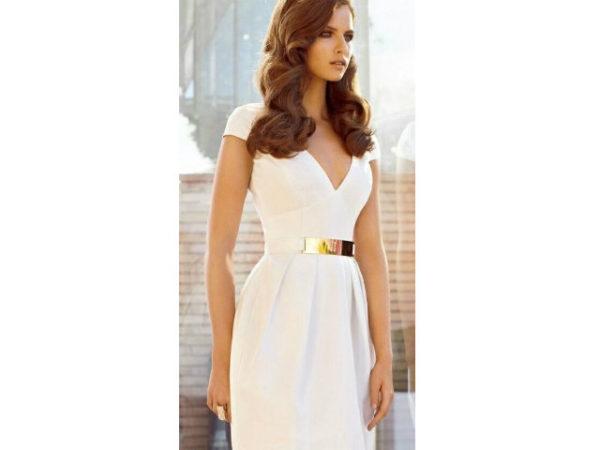 vestido-de-novia-sencillos-corto-boda-civil-2016-cinturon-dorado