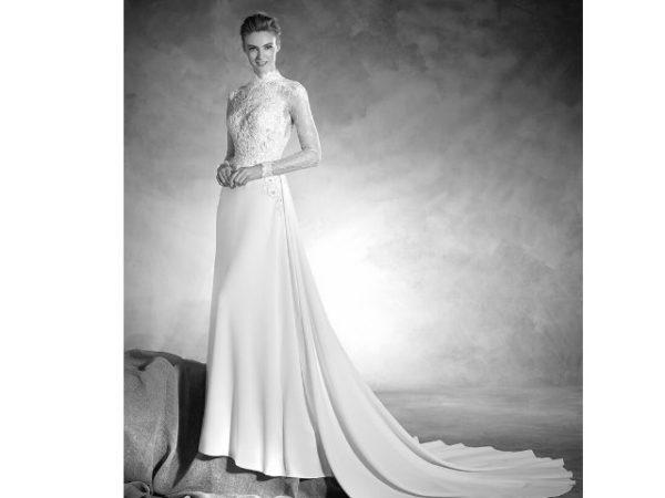 vestidos-de-novia-manga-larga-cuello-alto