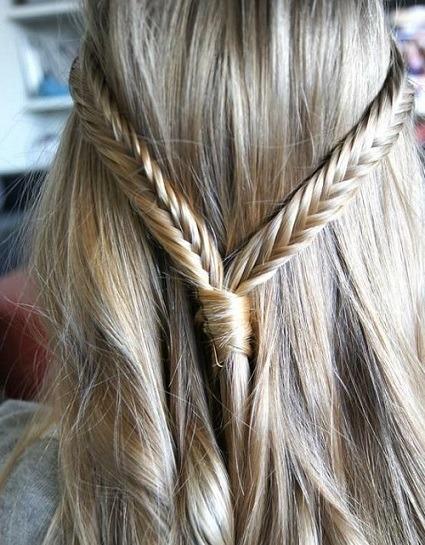 peinados-de-fiesta-para-pelo-largo-semirecogido-trenzas-pez