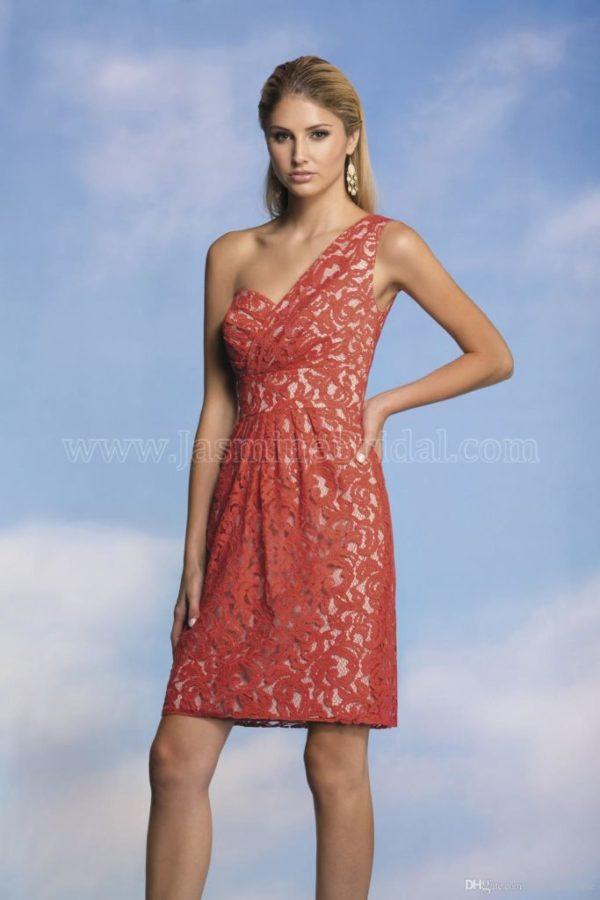 vestidos-de -fiesta-rojos-modaella-corto-encaje-estrecho