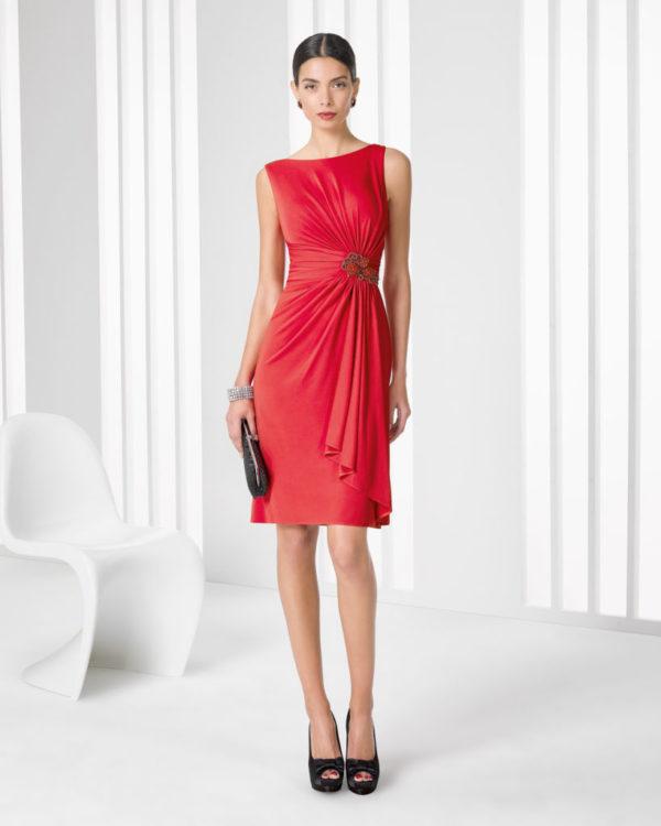 vestidos-de -fiesta-rojos-modaella-rosa-clara-corto