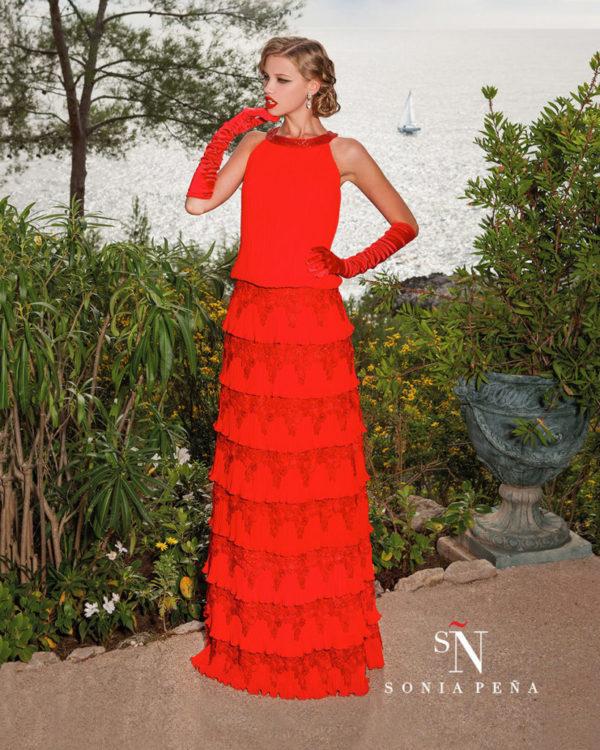 vestidos-de -fiesta-rojos-modaella-sonia-pena-encaje