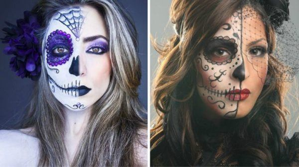 maquillaje-halloween-media-cara-calavera-mexicana