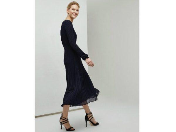vestidos-adolfo-dominguez-azul-marino-plisado