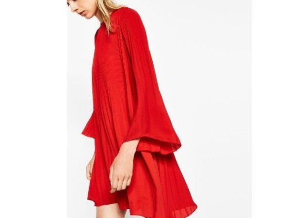 vestidos-fiesta-otono-invierno-2017-rojo-plisado