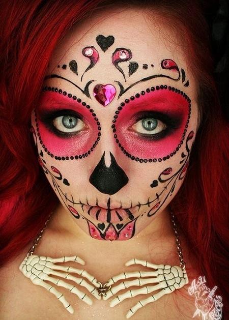 maquillaje-de-catrina-para-halloween-de-ojos-rojos