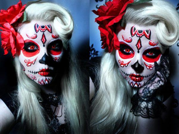 maquillaje-de-catrina-para-halloween-estilo-pin-up