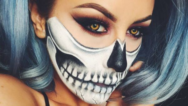 maquillaje-halloween-calavera-efecto-comic