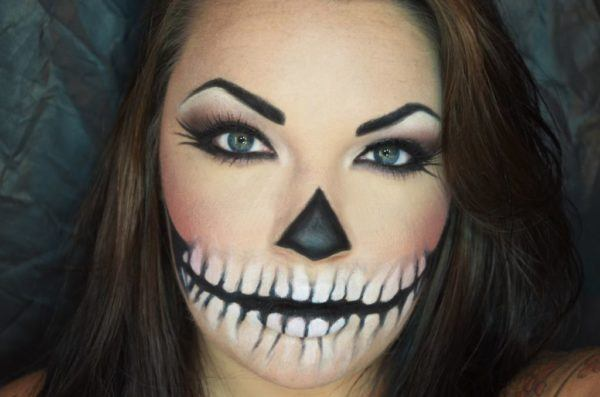 maquillaje-halloween-calavera-sencilla