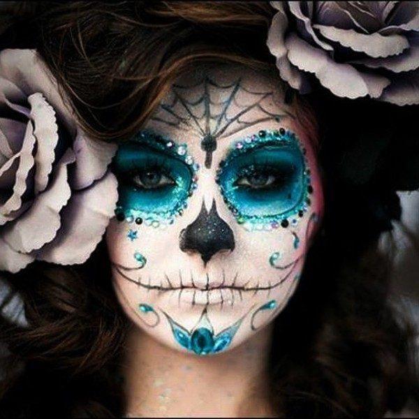 el-maquillaje-halloween-esqueleto-calavera-mexicana