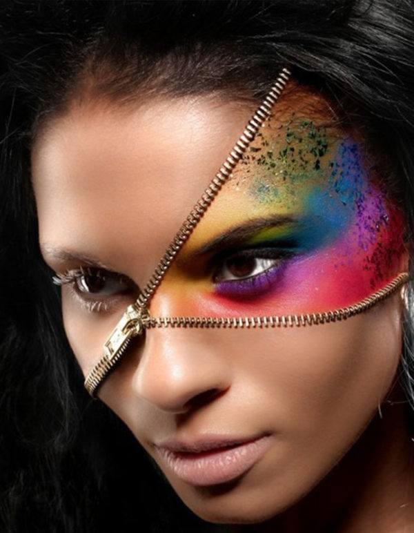 maquillaje-halloween-cremallera-arcoiris
