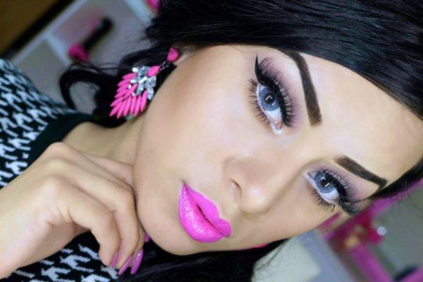 Makeup-for-san-valentin-lips-roses