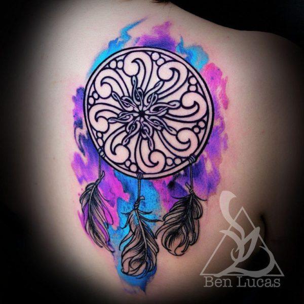 Los mejores disenos de tatuajes de atrapasuenos flor
