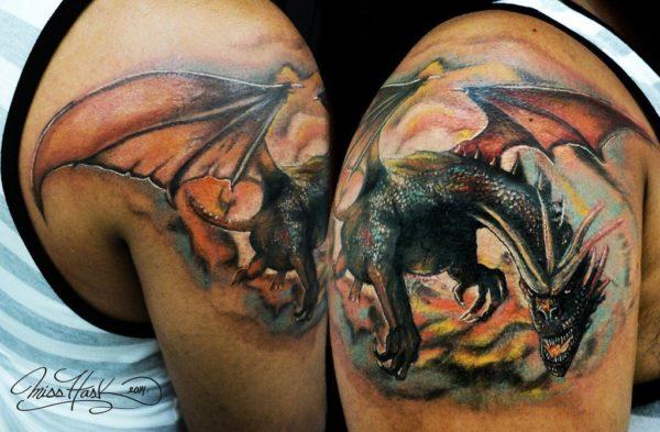 Los mejores disenos de tatuajes de dragones culturas orientales