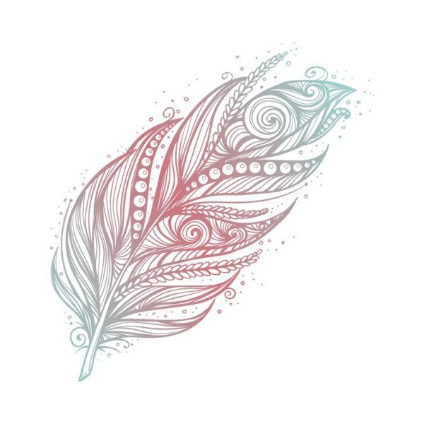 Los mejores disenos de tatuajes de plumas belleza y delicadeza