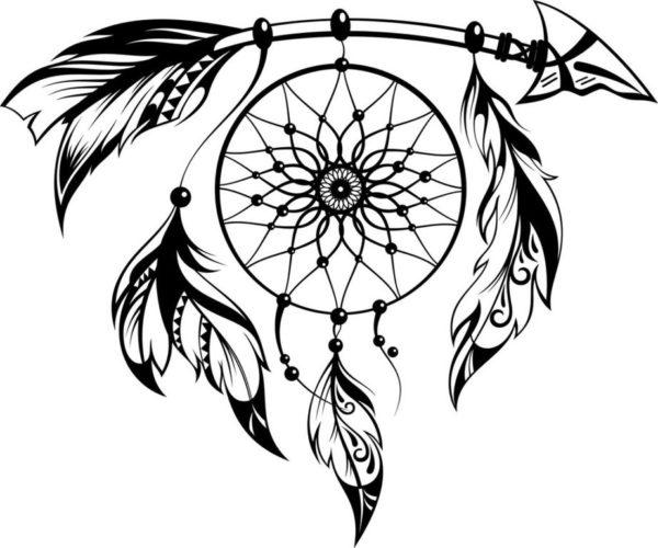 Tatuajes de flechas para mujer flechas con atrapasuenos