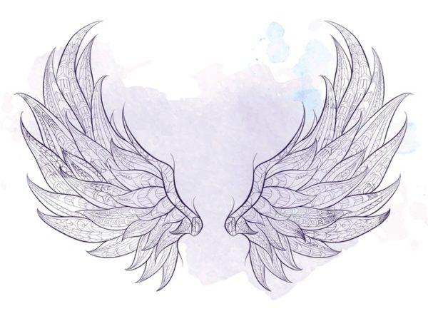 Tatuajes de plumas para hombre alas grandes espalda
