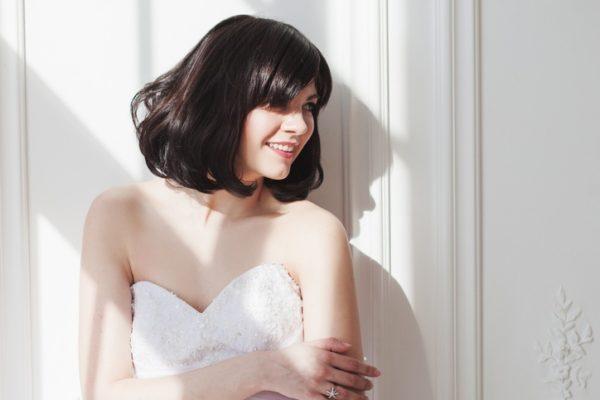 Peinados de novia pelo corto pelo suelto