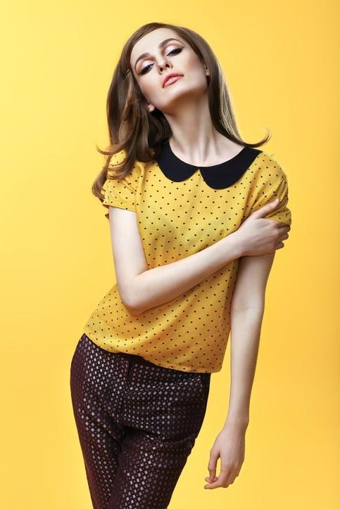 Cuello redondo peter pan moda anos 60