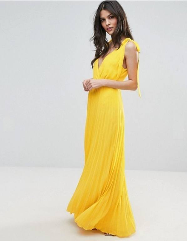 10 Ideas De Vestidos Amarillos Cortos Y Largos De Fiesta 2020 Modaellas Com