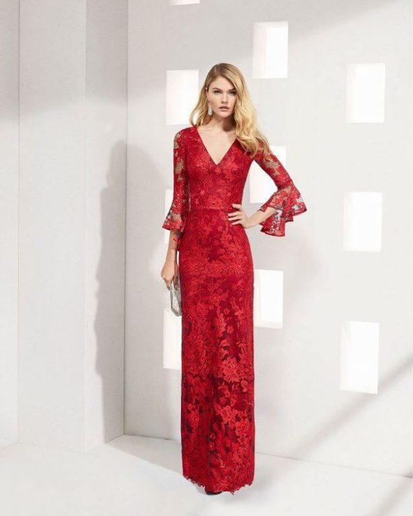 vestidos-para-ir-a-una-comunion-rosa-clara-rojo-caracol
