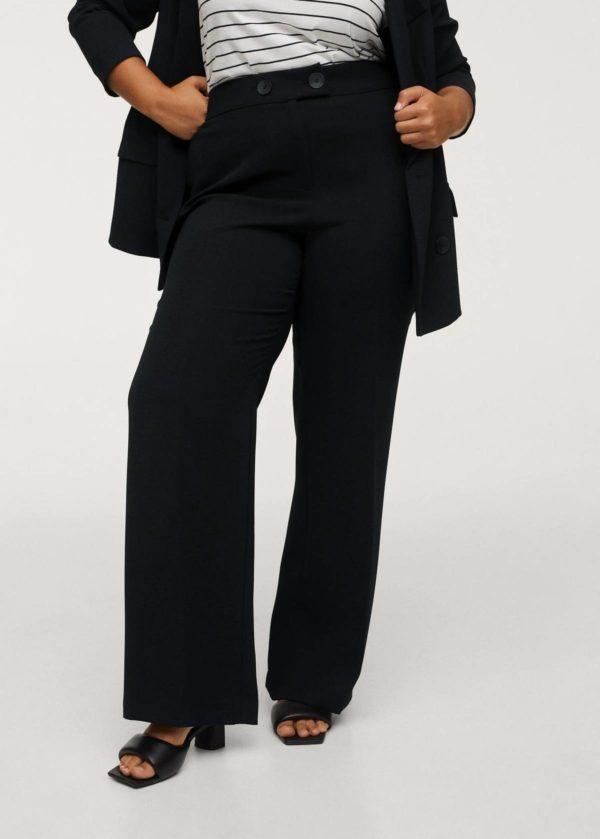 Catálogo de Mango Otoño Invierno 2021 2022 para mujeres de talla grande pantalon wide leg
