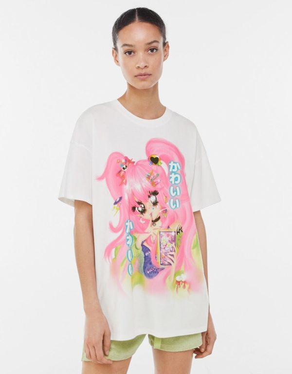 Catalogo bershka primavera verano 2021 camiseta manga