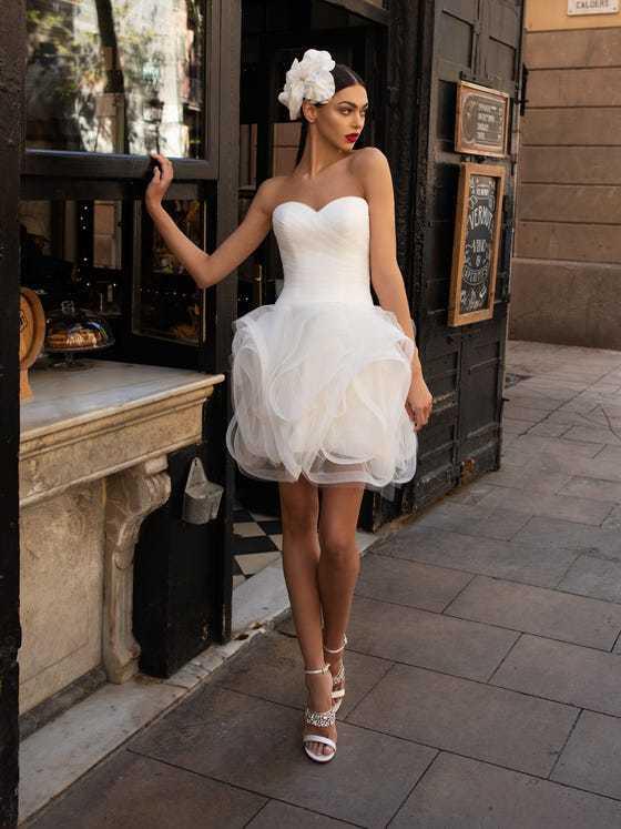 Vestido boda civil Pronovias modelo PWD 04
