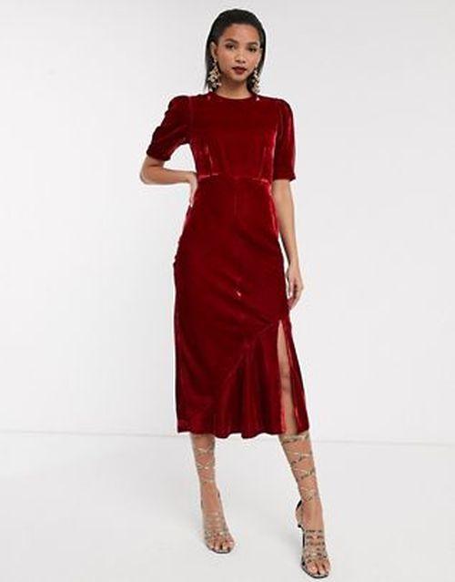 vestidos-boda-civil-invitadas-rojo-terciopelo-asos