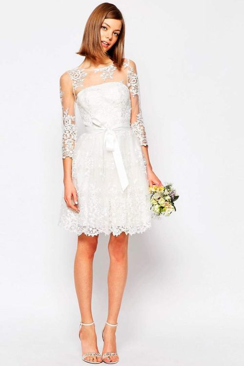 vestidos-de-novia-cortos-encaje-lazo-stylovely